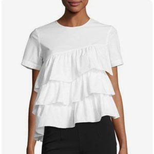 Co Collections Cotton Ruffle Tiered Short Sleeve